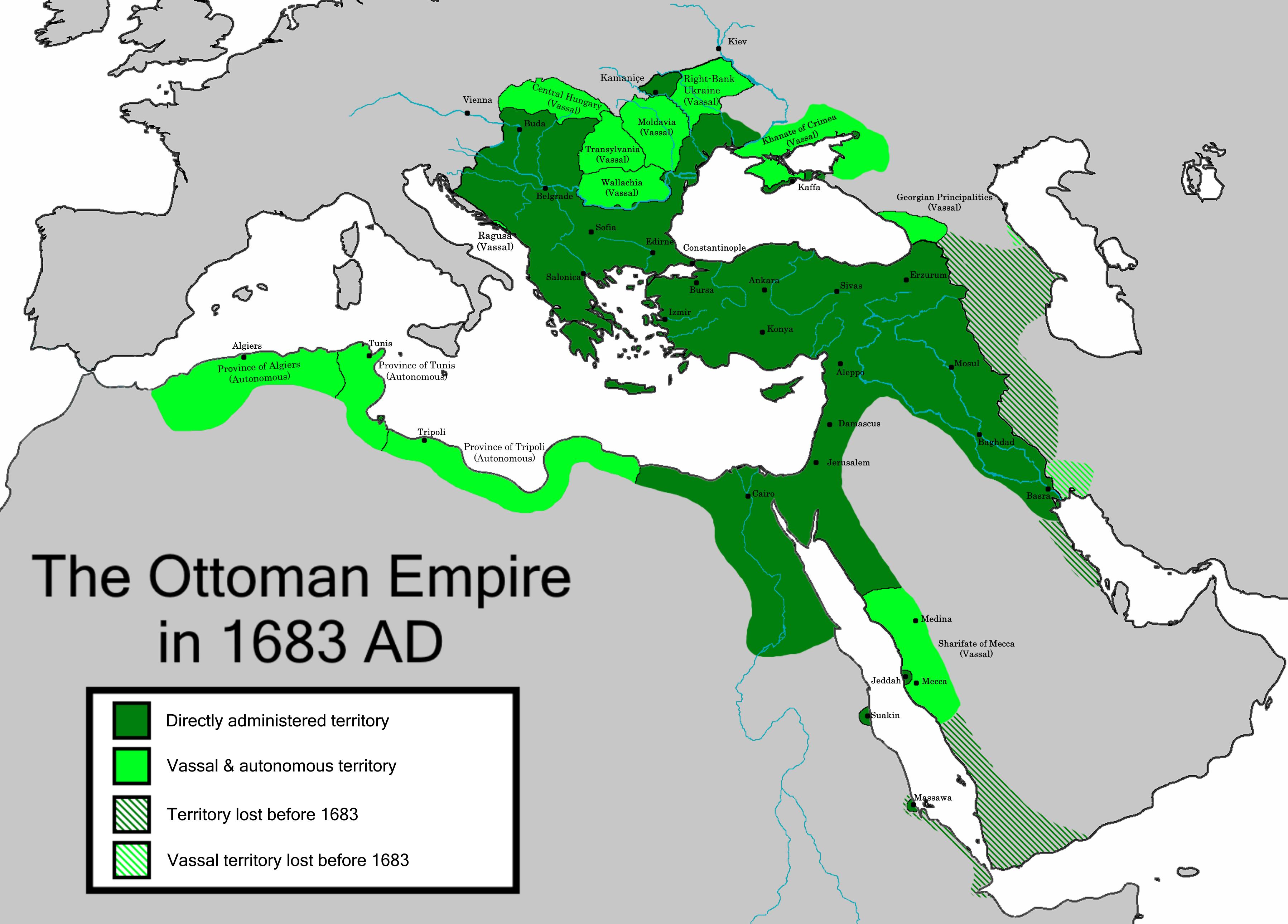 L'Empire ottoman, le dernier des empires musulmans.