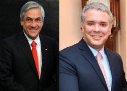 Les présidents Sebastián Piñera (Chili) et Iván Duque (Colombie) sont à l'origine de l'initiative d'intégration Prosur.