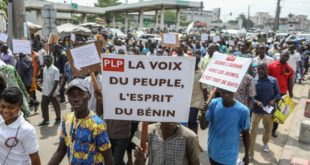 Photo. Manifestants au Bénin