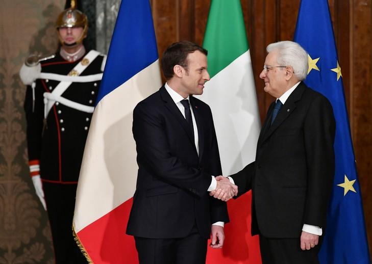 Emmanuel Macron et Sergio Mattarella se sont rencontrés à l'occasion du 500e anniversaire de la mort de Leonard de Vinci