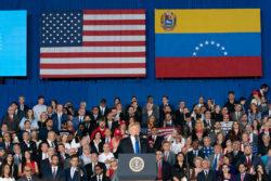 Devant les étudiants de l'Université de Floride, Donald Trump a donné un discours sur l'Amérique latine et notamment le Venezuela.