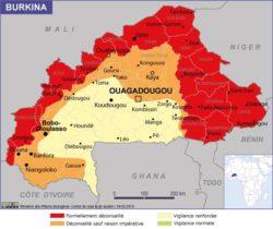 Une carte du risque sécuritaire au Burkina Faso