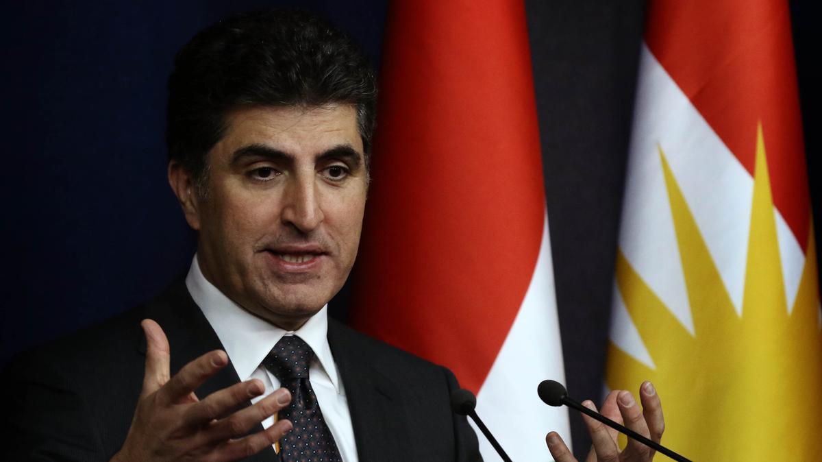 Le nouveau président du Kurdistan irakien Nechirvan Barzani en 2019.