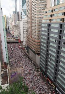 Hong Kong dans la tourmente des manifestations