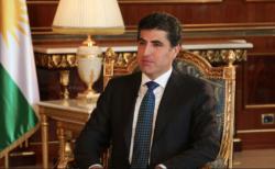 Le président du Kurdistan Irakien Nechirvan Barzani en 2019.