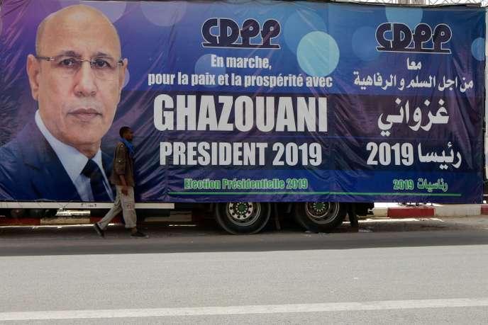 Affiche de campagne du candidat élu à la présidence de la Mauritanie, Mohamed Ould Ghazouani