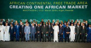 44 chefs d'Etat africains et représentants réunis en mai 2018 à Kigali au Rwanda