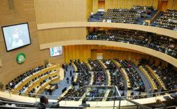 Une vue du parlement de l'Union africaine