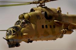 Un Mi-35, hélicoptère de combat russe qui sera prochainement livré aux armées malienne