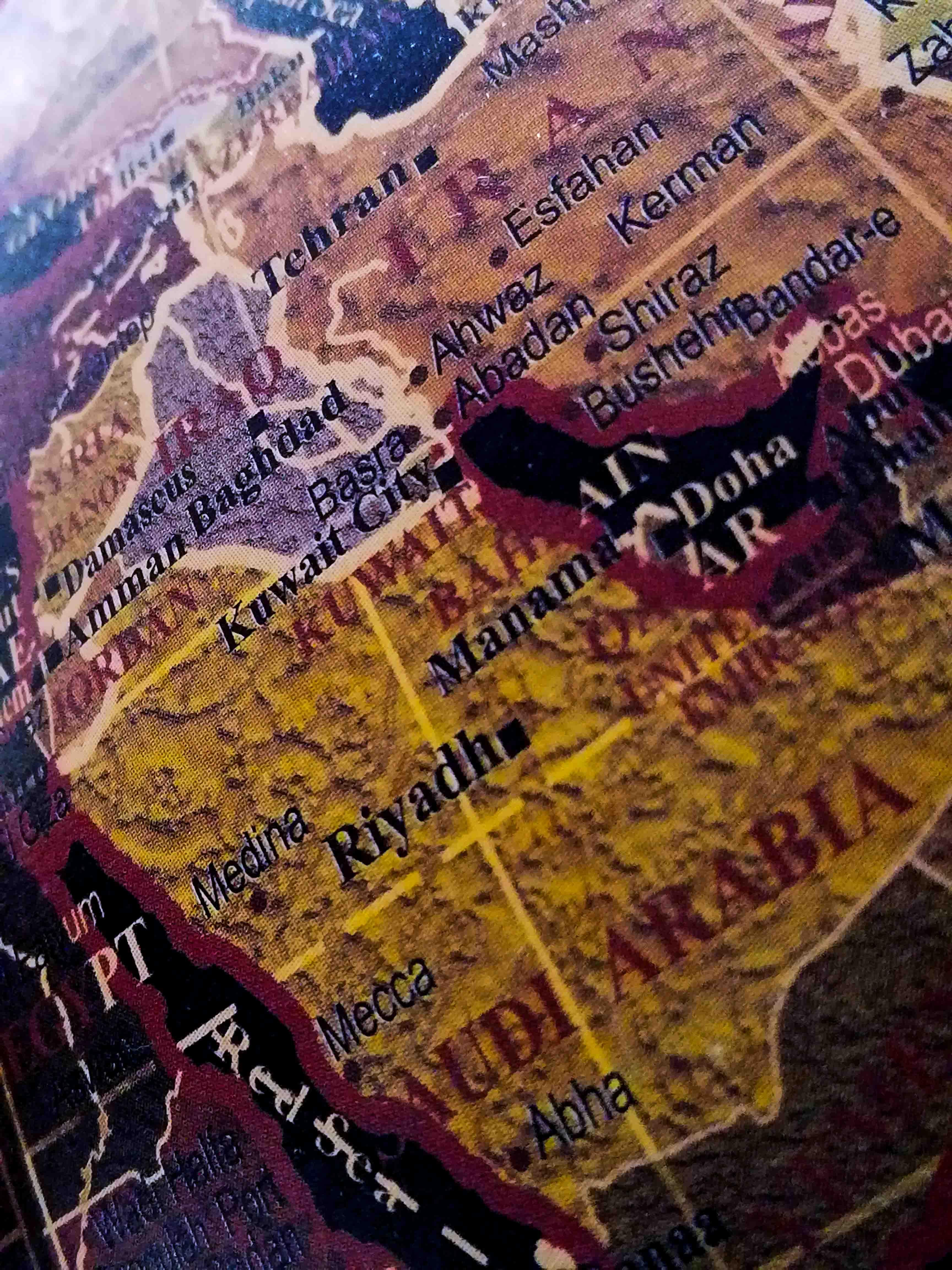 Carte Iran Irak Arabie