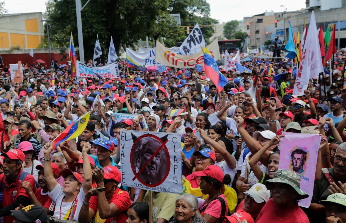 Manifestants à Caracas