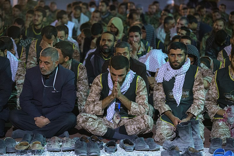 Militaires durant le pèlerinage d'Arba'in