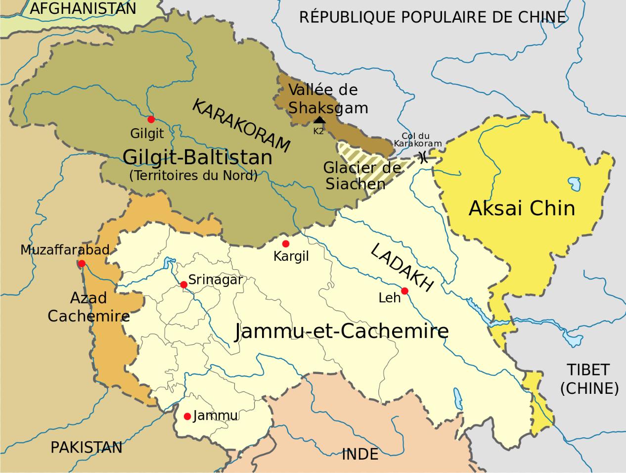 Entre l'Inde, le Pakistan et la Chine, le Cachemire s'enflamme.
