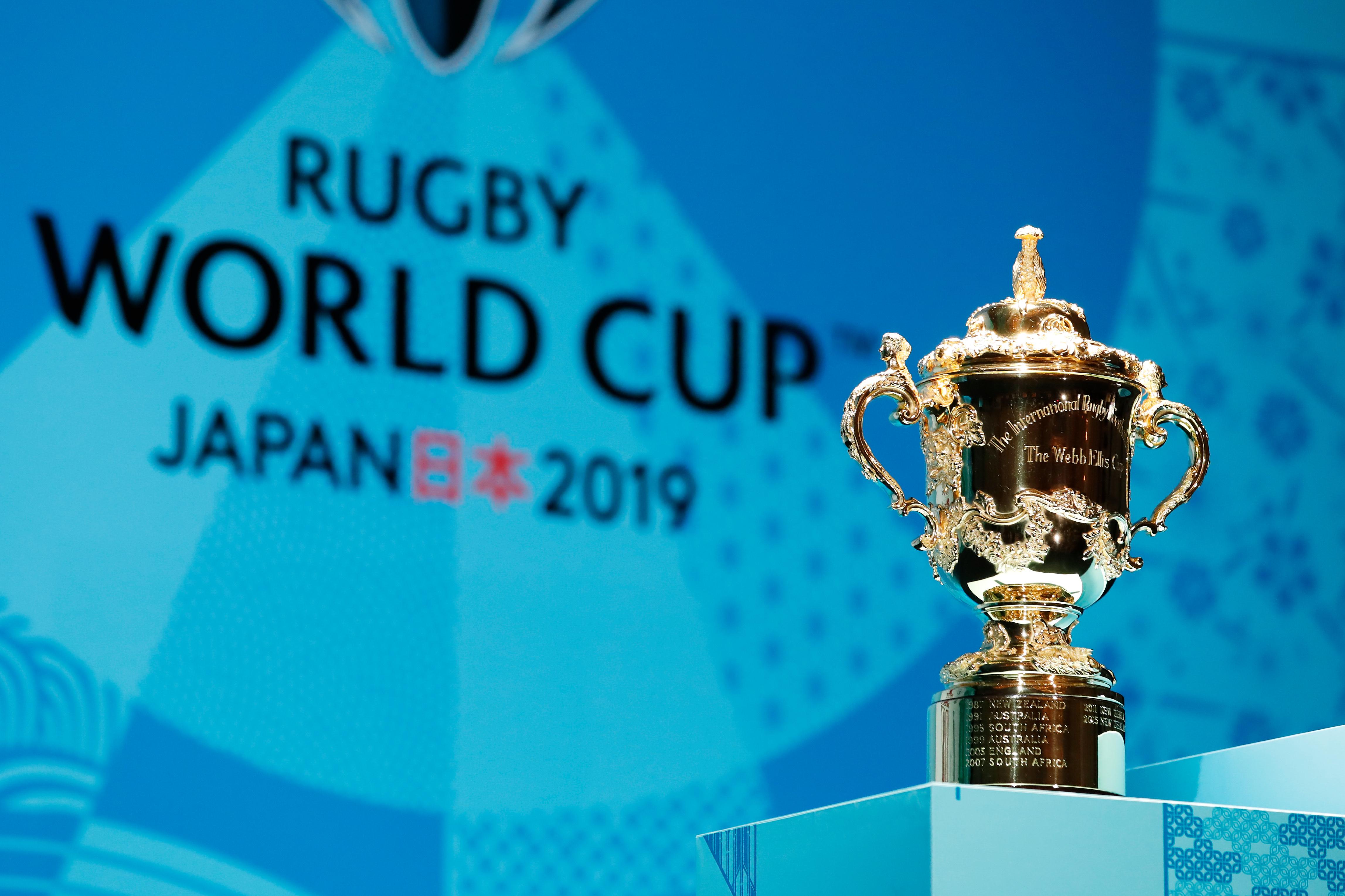 Le trophée Webb Ellis à l'occasion de la Coupe du monde de rugby 2019