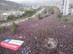 Vendredi 25 octobre, 1,2 million de personnes ont manifesté au Chili