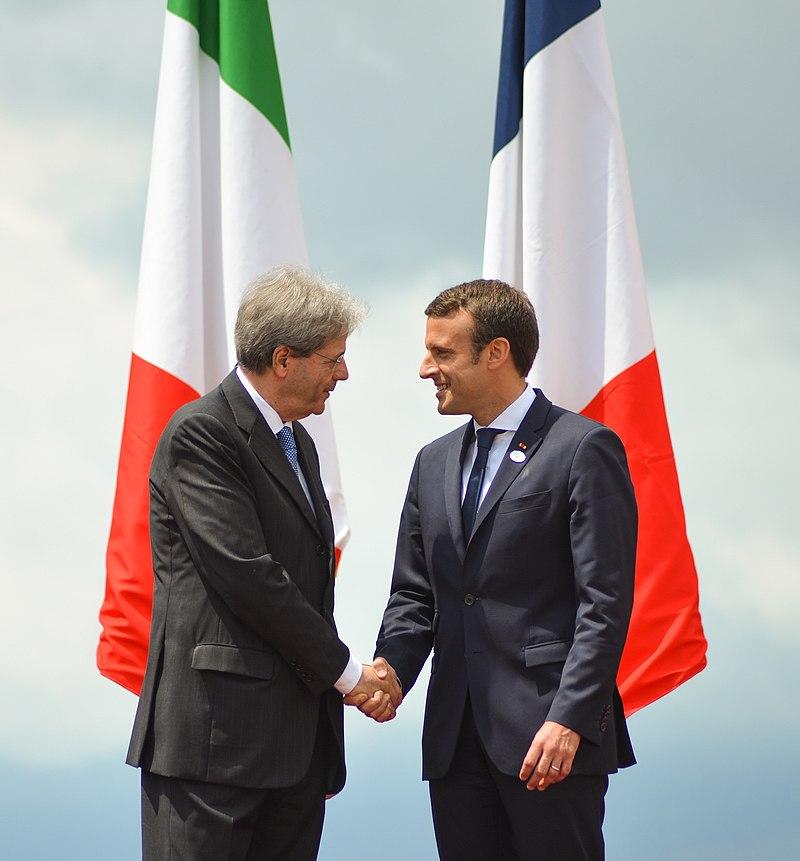 Emmanuel Macron et Paolo Gentiloni en 2017. France-Italie.