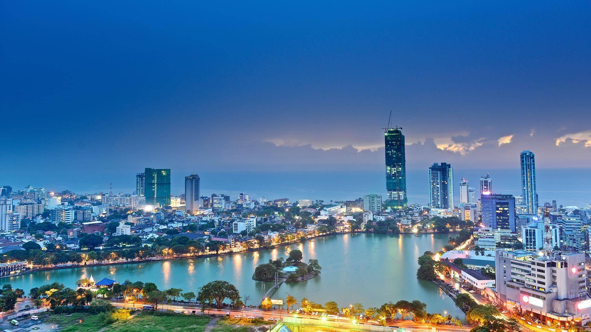 La ville de Colombo au Sri Lanka