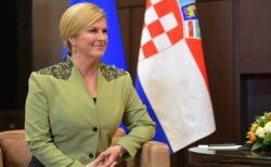 Kolinda Grabar-Kitarovic présidente sortante et candidate à sa réélection.