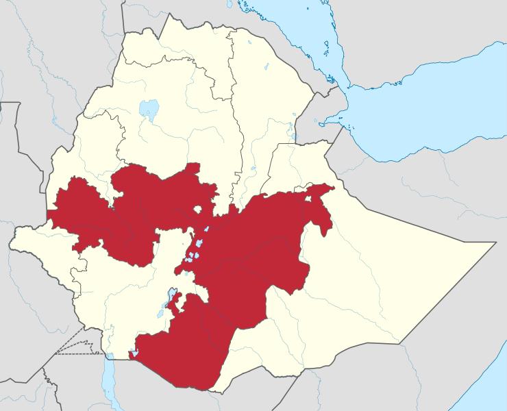 l'Oromia est l'une des neufs régions administratives de l'Ethiopie.