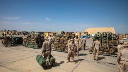 Les troupes étasuniennes sur le départ
