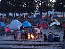 Camp réfugiés d'Idomeni au nord de la Grèce