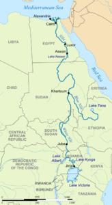 Le fleuve du Nil, entre l'Éthiopie et l'Égypte