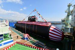 En Octobre le Japon a inauguré un nouveau type de sous-marin dans le port de Kobé