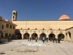 cathédrale al-Tahira de Qaraqosh détruite par Daech, 2016 en Irak