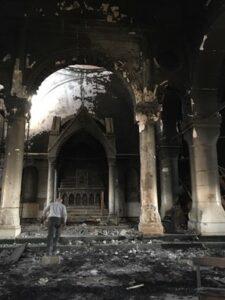 cathédrale al-Tahira détruite par Daech à Qaraqosh en Irak