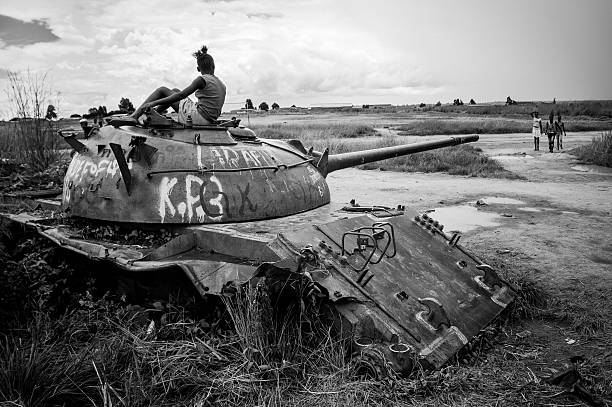 Tank abandonné en Angola