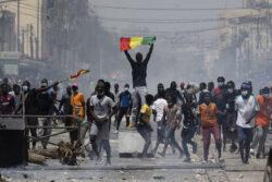Manifestation à Dakar en mars 2021