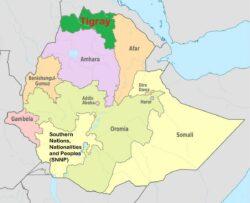 Carte Ethiopie élections situation Tigré
