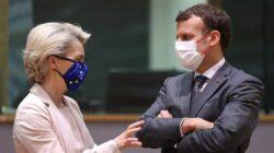 Mme Von der Leyen et le président français Emmanuel